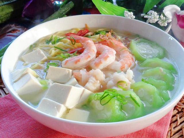 Món ăn trị thoái hóa khớp gối từ canh đậu phụ và mướp